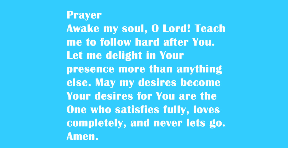 Prayer: awake-my-soul