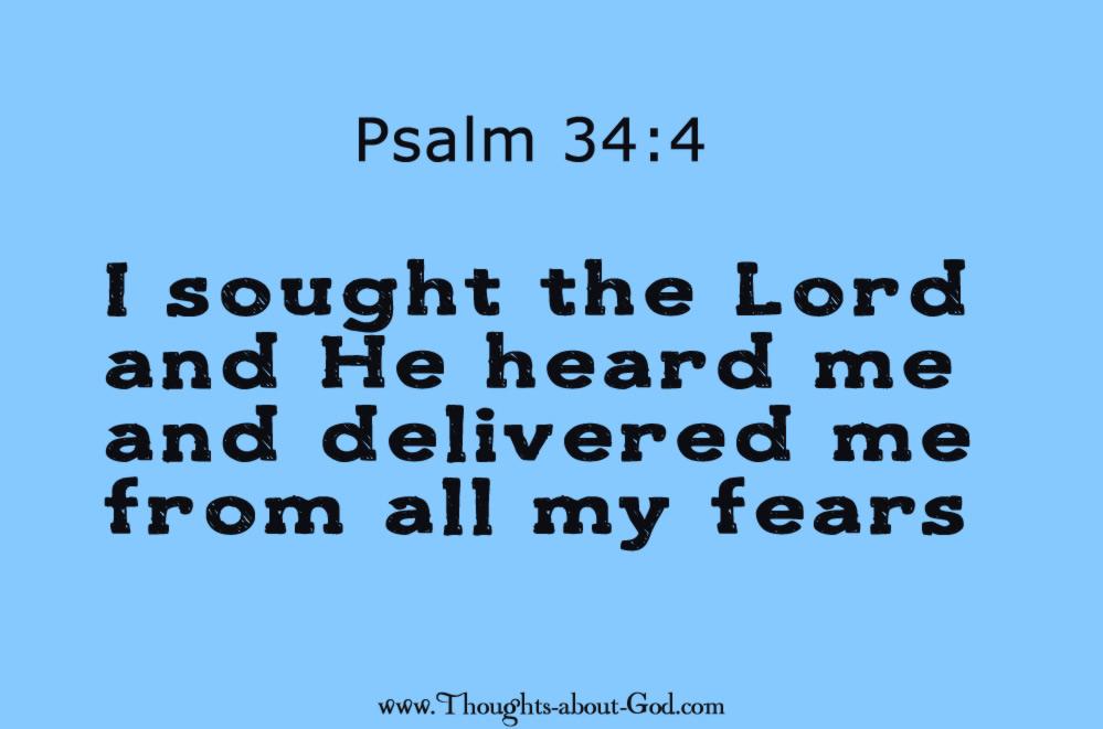 Psalm 34:4 deliverence