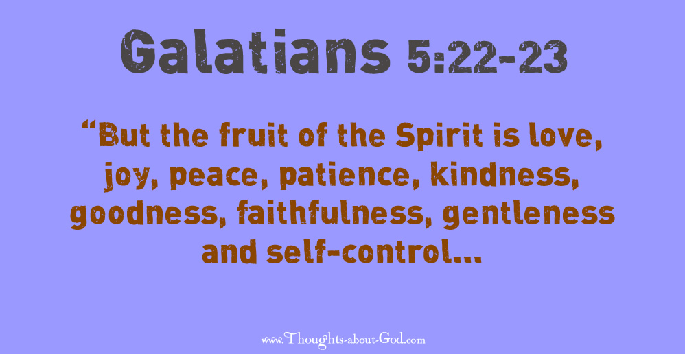 Fruit of the Spirit Galatians 5