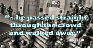crowd, city, Luke 4:30