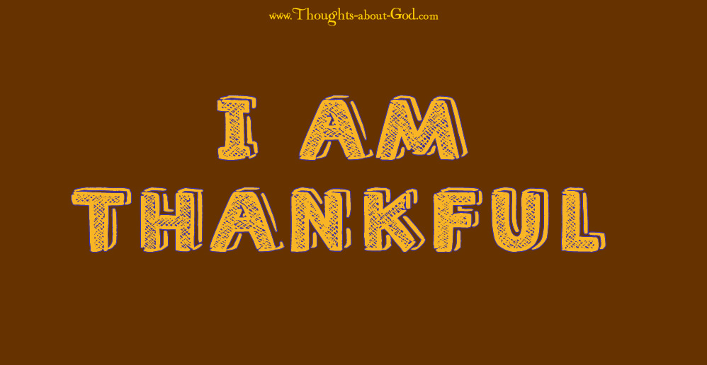 I am Thankful - Thanksgiving