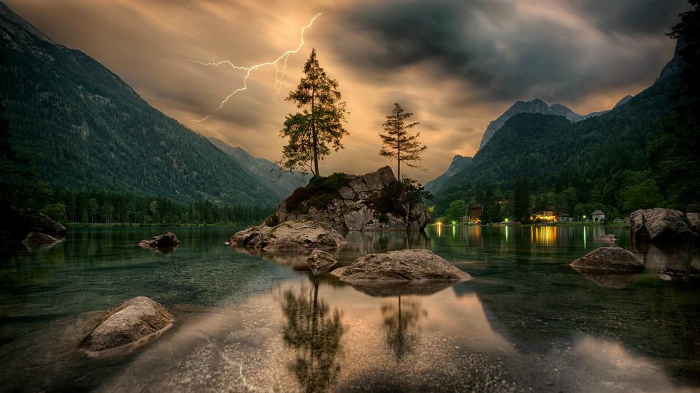 feature scene mountain calm peaceful serenity