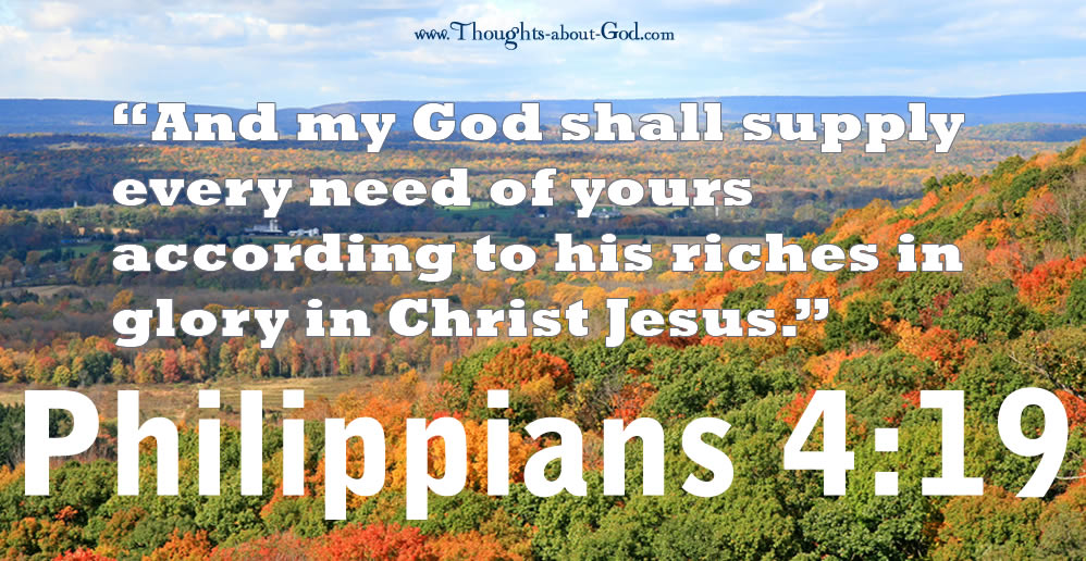 Philippians 4:19 My God Shall Supply All Your Needs.... Devotional