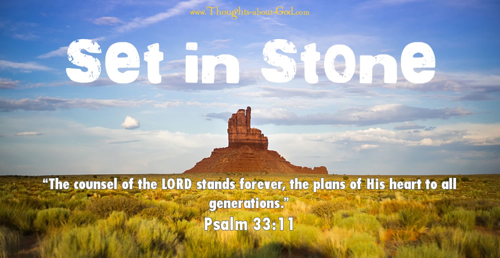 Psalm 33:11 Set in Stone