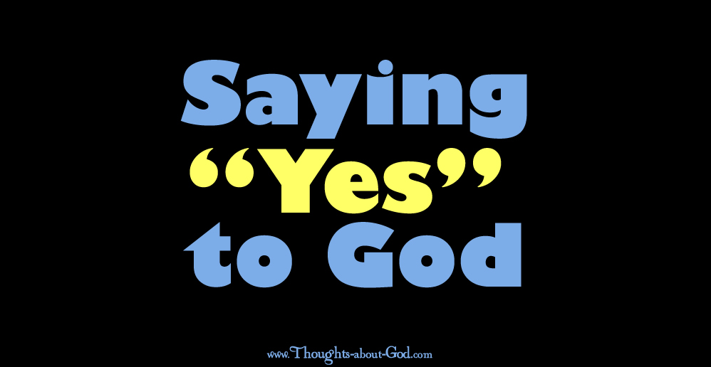 Saying YES to God. Devotional