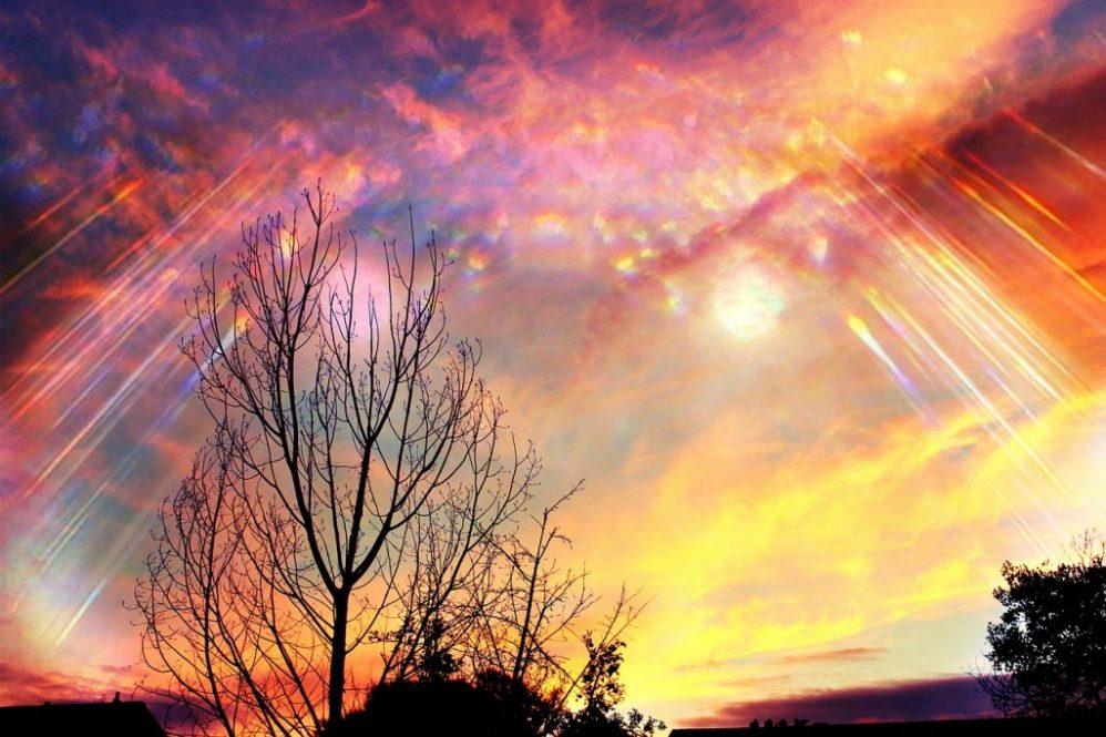 Sky scene. Serenity with God.