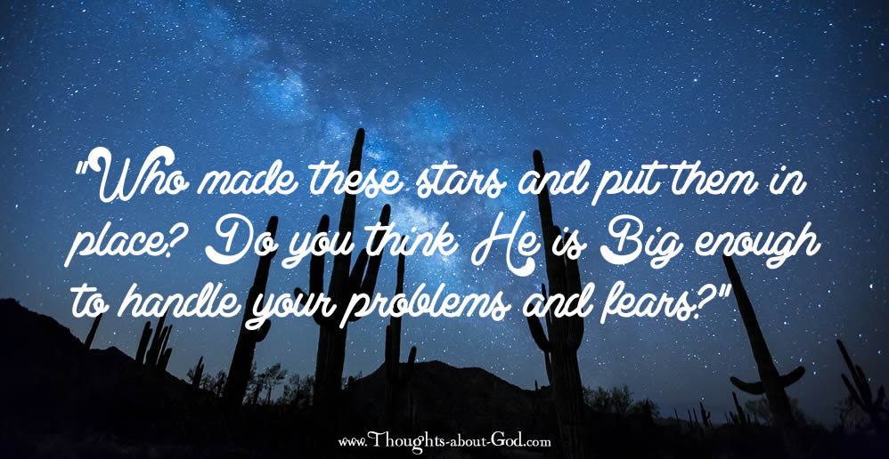 Stars - Is God Big enough for your fears? Devotional