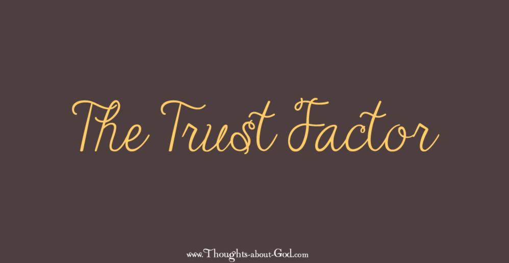 The Trust Factor - Devotional