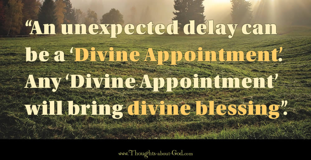 Divine Appointments, Diving Blessings