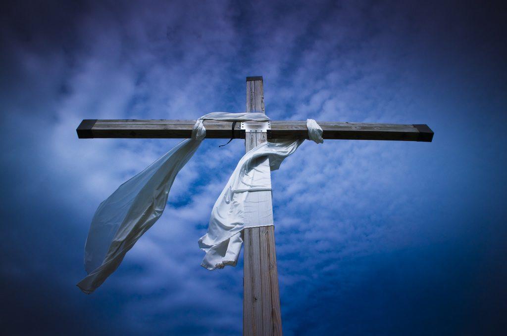 Easter Cross Blue