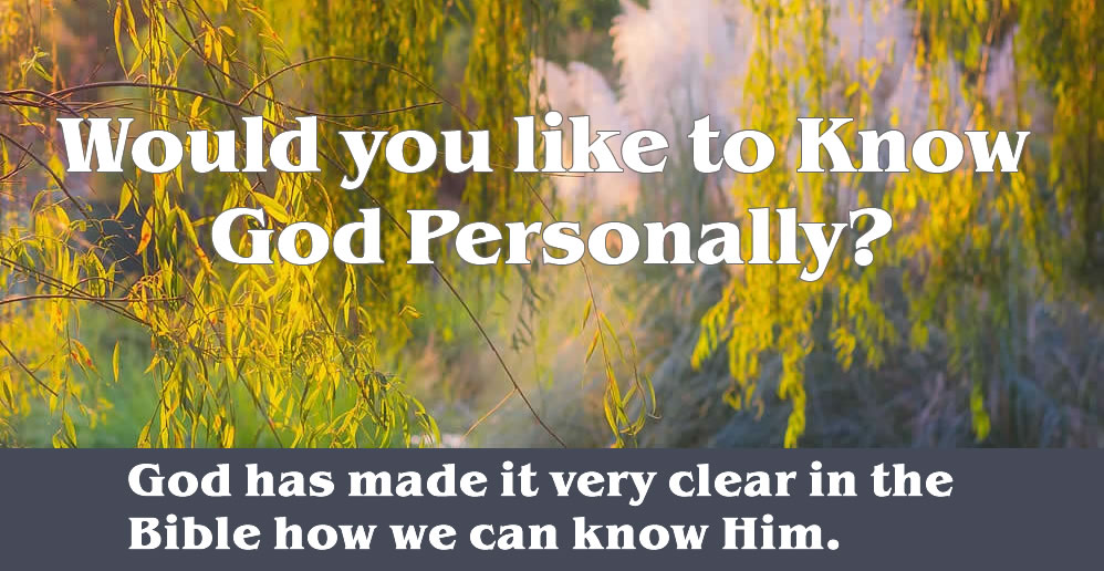 Know God Personally - Four Spiritual Laws
