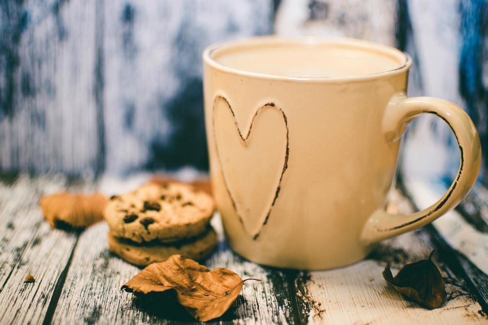 christian poem with coffee mug