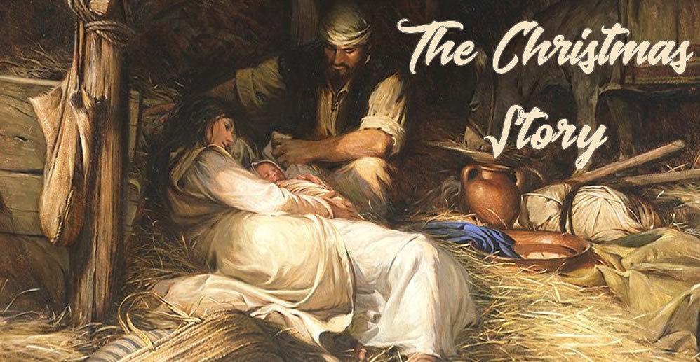 The Christmas Story. nativity scene.