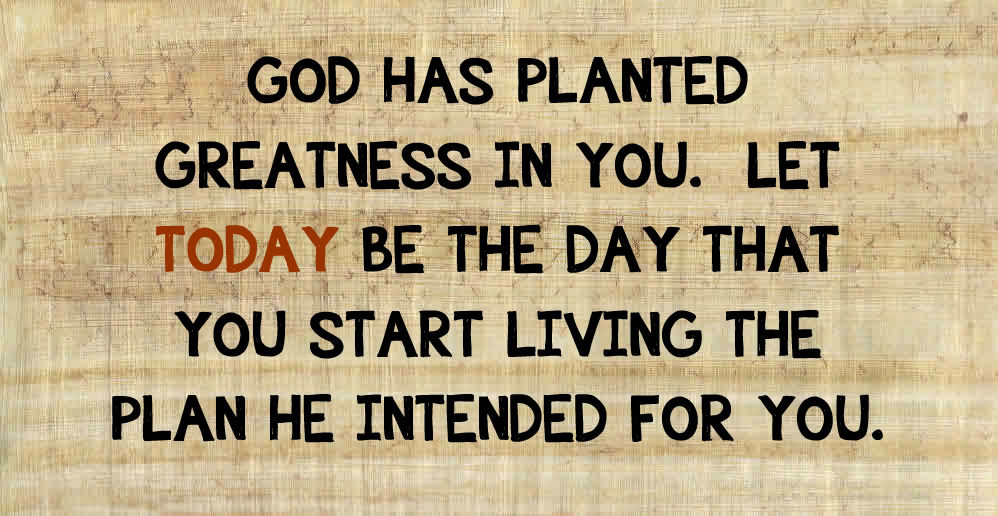 God's Plan for you. What is God's destiny for you?