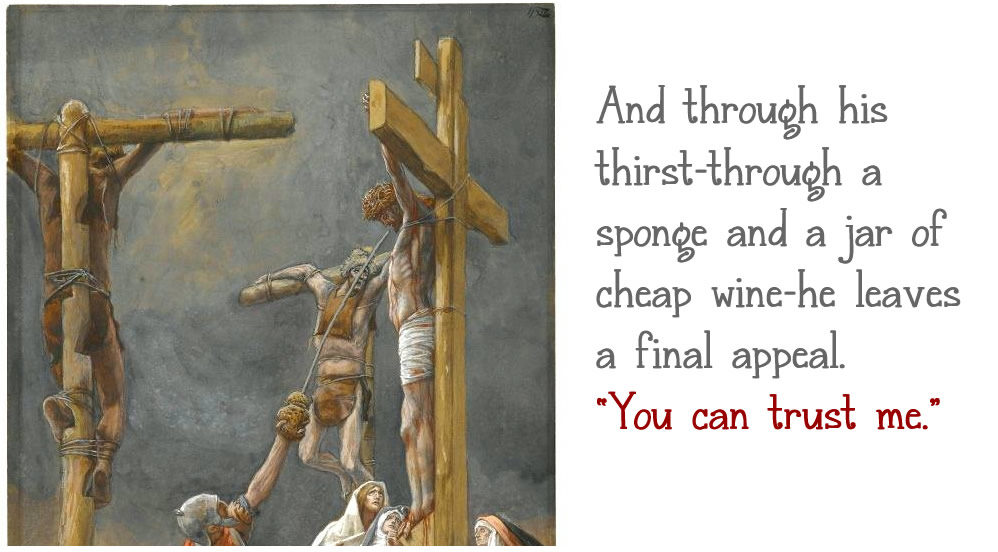 Jesus thirsty on the cross
