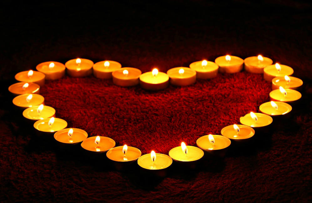 brevity of Life. Candles heart